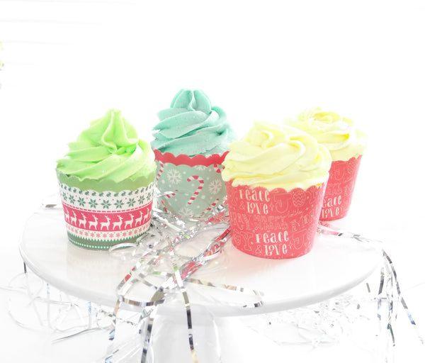 Christmas Bubble Bar Cupcakes