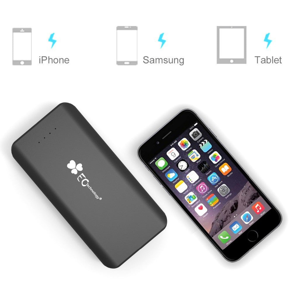 Phone Portable Phone Charger For Android ec technology 16000mah portable battery charger all charged up mobile for iphone android devices beside an illustrates that it is capable
