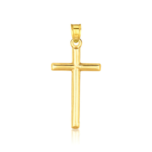 14K Yellow Gold High Polish Cross Pendant