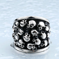 Heavy Metal Biker Skull Accessories Stainless Steel Exaggerated ring - 1021st