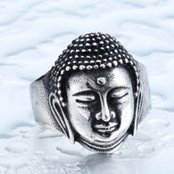 2016 Buddha Head Bless Ring 316L Stainless Steel Buddhism Jewelry - 1021st