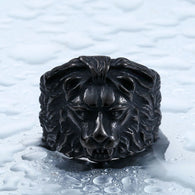 Unique Stainless Steel Biker Gothic Lion Head Ring - 1021st
