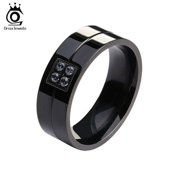 Top Quality Gold Plated Titanium Steel Ring Micro Paved Zircon - 1021st