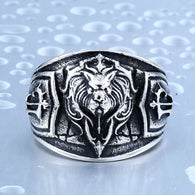 Unique Lion Head Ring  Stainless Steel  Animal Ring - 1021st