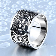 Cool Chinese Four Old  Animal Ring For Man 316L Stainless Steel - 1021st