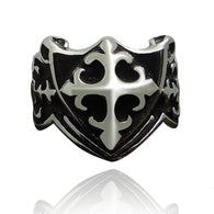 Design Male Punk Rings Cross Metal Knuckle Antique Ring Biker Anillos - 1021st