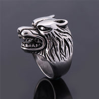 Design Ring Wolf Pattern Metal Knuckle Antique Ring  Biker Anillos - 1021st
