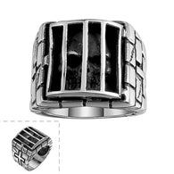 Biker Jewelry Stainless Steel Ring  Individuality Skull in Window - 1021st