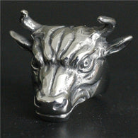 Heavy Bull Ring 316L Stainless Steel Men Boys Silver Cool Man Biker Ring - 1021st