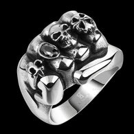 Gothic punk style ring with titanium steel jewelry - 1021st