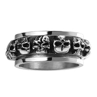 Floating charms Maya stainless steel rings for men insets skull aliancas - 1021st