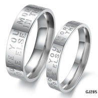 Couple Letters Ring  316L Titanium steel with Platinum Plated - 1021st