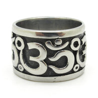 New Omsymbol Buddhism    Stainless Steel OM Ring - 1021st