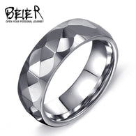 8mm silver colour  Tungsten Ring Delicate cutting - 1021st