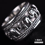 2016 Party Classic Selling New Sapphire Jewelry Anillos Rings 925 Sterling For Men Thai Elephant Ring Restoring Ancient Ways - 1021st