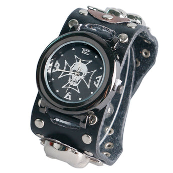 Modern Punk  Gothic Style Accessories Trendy Sport Quartz Rock Wrist Watch Skull Fashion Men - 1021st
