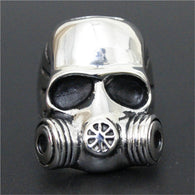 Gas Mask Skull Ring 316L Stainless Steel Top Quality Fashion - 1021st