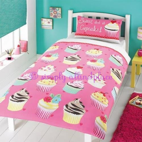 Childrens Fun Filled Single Bedding - Sweet As a Cupcake