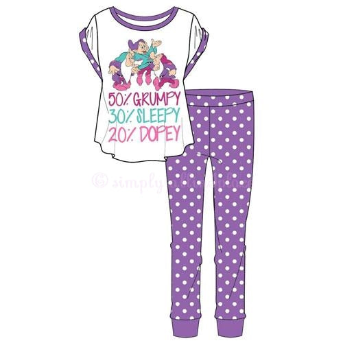 Ladies Snow White Dwarfs Percent Pyjama Set(Stock Item)