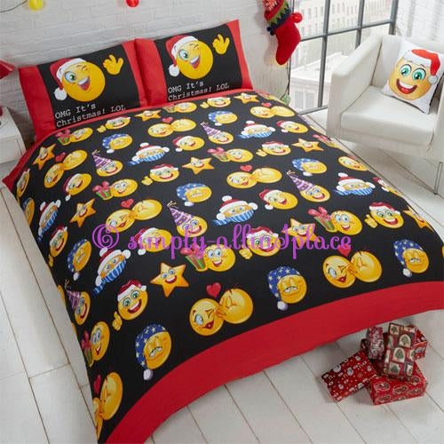 Christmas Icons Duvet Cover Set - Stock Item