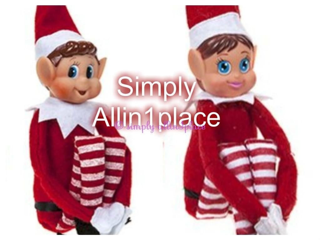 12 Inch Red Long Leg Soft Body Vinyl Face Elf With Hat