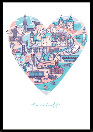 Cardiff Print Poster