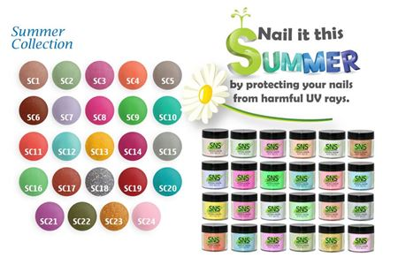 SNS Gelous Dipping Powder, Summer Collection, 1oz, Full Line Of 24 Colors (from SC01 to SC24, Price: $11.92/pc) Pro