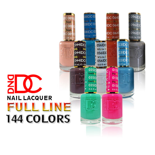 DC Nail Lacquer, 0.6oz, Full line of 144 colors (from DC001N to DC144N)