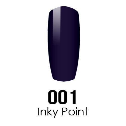 DC Nail Lacquer And Gel Polish (New DND), DC001, Inky Point, 0.6oz KK1015