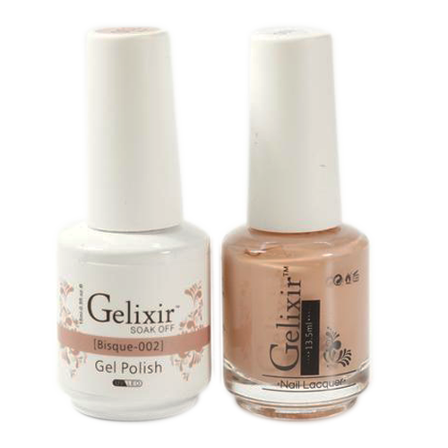 Gelixir Nail Lacquer And Gel Polish, 002, Bisque, 0.5oz KK1010
