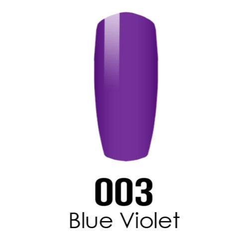 DC Nail Lacquer And Gel Polish (New DND), DC003, Blue Violet, 0.6oz KK1016