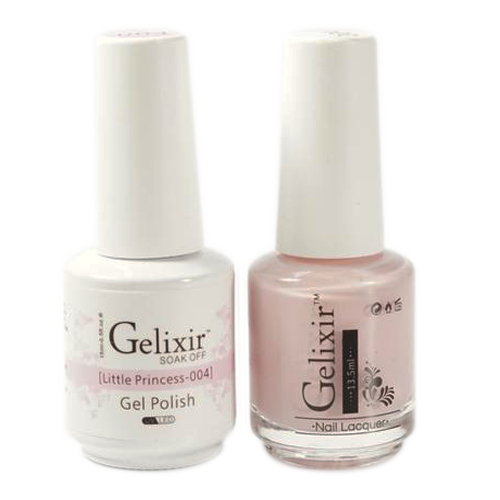 Gelixir Nail Lacquer And Gel Polish, 004, Little Princess, 0.5oz KK1010