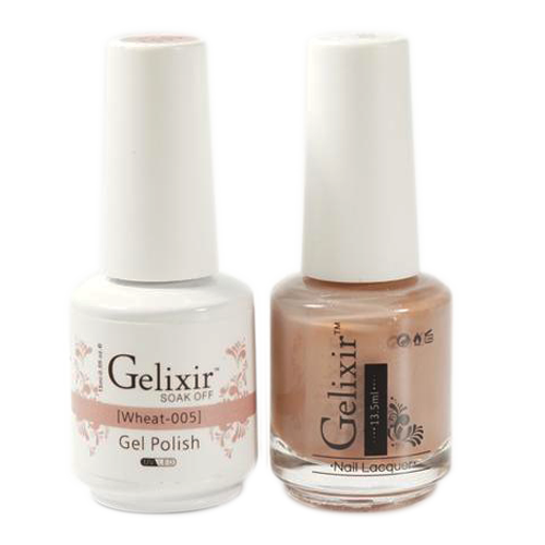 Gelixir Nail Lacquer And Gel Polish, 005, Wheat, 0.5oz KK1010