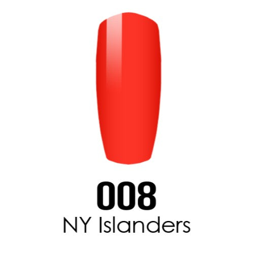 DC Nail Lacquer And Gel Polish (New DND), DC008, Ny Islanders, 0.6oz KK1016