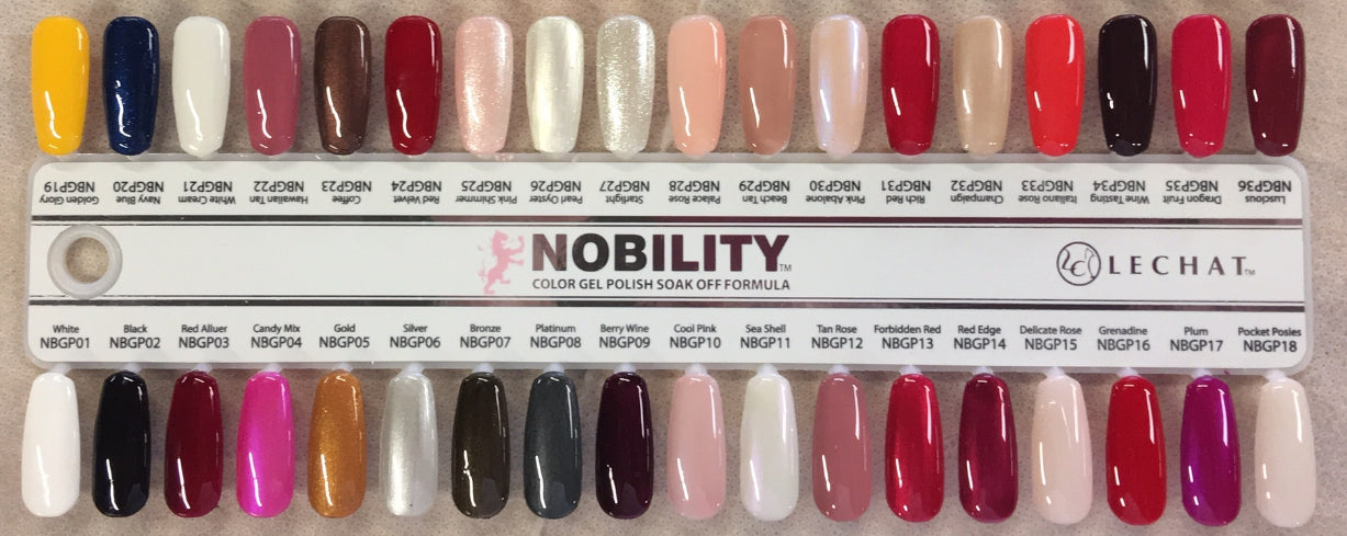 LeChat Nobility Gel Tips Sample, #01, NBGP001- NBGP036 – Nails Cost Inc.