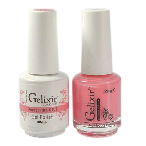 Gelixir Nail Lacquer And Gel Polish, 010, Angel Pink, 0.5oz KK1010