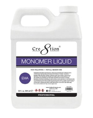 Cre8tion Monomer Liquid EMA, 32oz, 01150