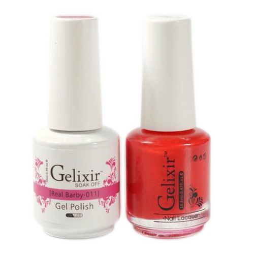 Gelixir Nail Lacquer And Gel Polish, 011, Real Barby, 0.5oz KK1010