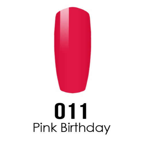 DC Nail Lacquer And Gel Polish (New DND), DC011, Pink Birthday, 0.6oz KK1108