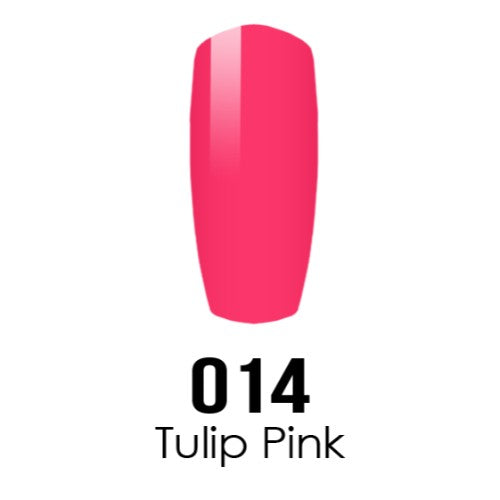 DC Nail Lacquer And Gel Polish (New DND), DC014, Tulip Pink, 0.6oz KK1016