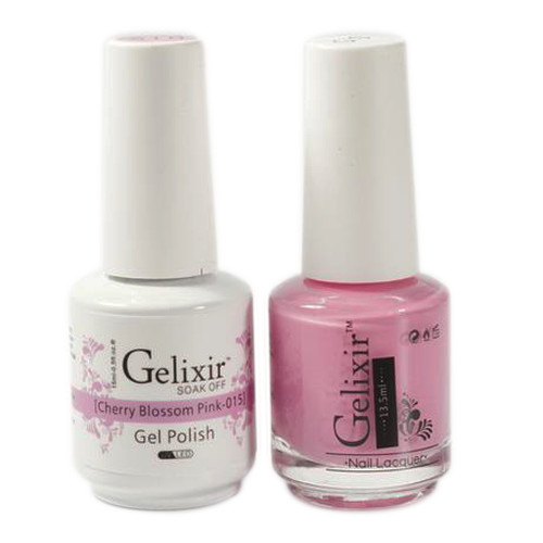 Gelixir Nail Lacquer And Gel Polish, 015, Cherry Blosson Pink, 0.5oz KK