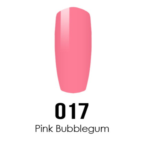 DC Nail Lacquer And Gel Polish (New DND), DC017, Pink Bubblegum, 0.6oz KK1015