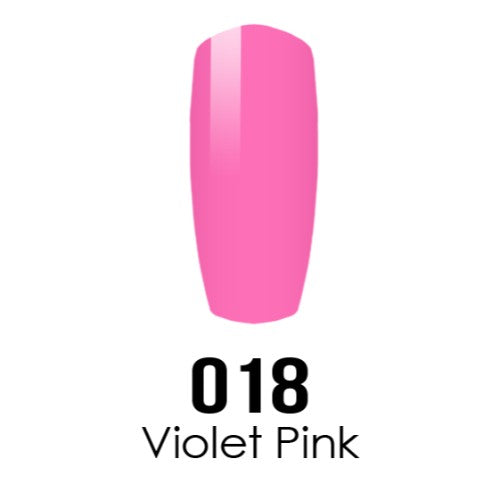 DC Nail Lacquer And Gel Polish (New DND), DC018, Violet Pink, 0.6oz KK1108