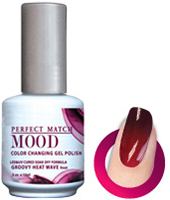 LeChat Mood Perfect Match Color Changing Gel Polish, MPMG01, Groovy Heat Wave, 0.5oz KK0823 BB