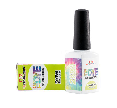NuRevolution Tie Dye Gel Collection, 02, Kiwi Kooler, 0.5oz KK0918
