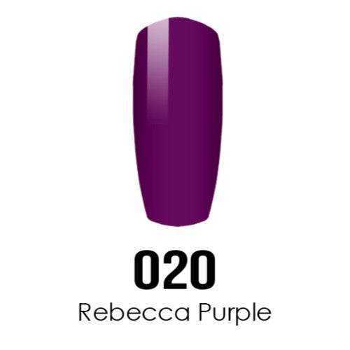 DC Nail Lacquer And Gel Polish (New DND), DC020, Rebecca Purple, 0.6oz KK1012