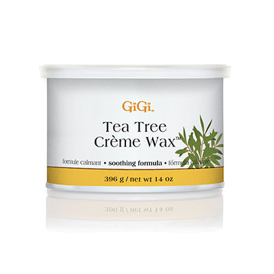 Gigi TEA TREE CREME WAX, 14oz, 0240EC, 448043 (Packing: 24 pcs/case)