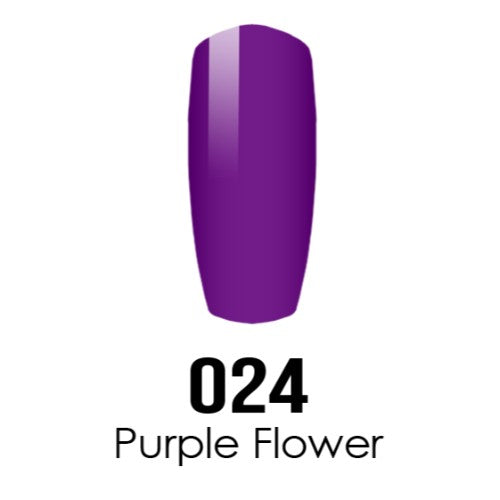 DC Nail Lacquer And Gel Polish (New DND), DC024, Purple Flower, 0.6oz KK1016