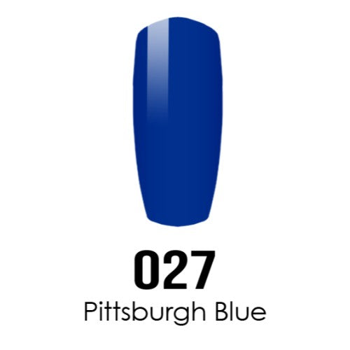 DC Nail Lacquer And Gel Polish (New DND), DC027, Pittsburgh Blue, 0.6oz KK1016