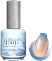 LeChat Mood Perfect Match Color Changing Gel Polish, MPMG02, Partly Cloudy, 0.5oz KK0823 BB